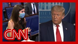 Trump walks out of briefing after CNN question