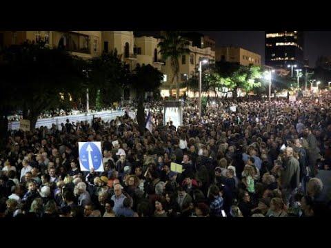 مظاهرات حاشدة في تل أبيب احتجاجا على -الفساد الحكومي-  - 16:22-2017 / 12 / 3