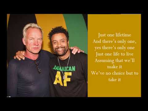 Just One Lifetime - Sting & Shaggy - (Lyrics)