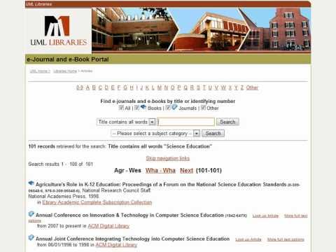 E-journal and e-Book Portal