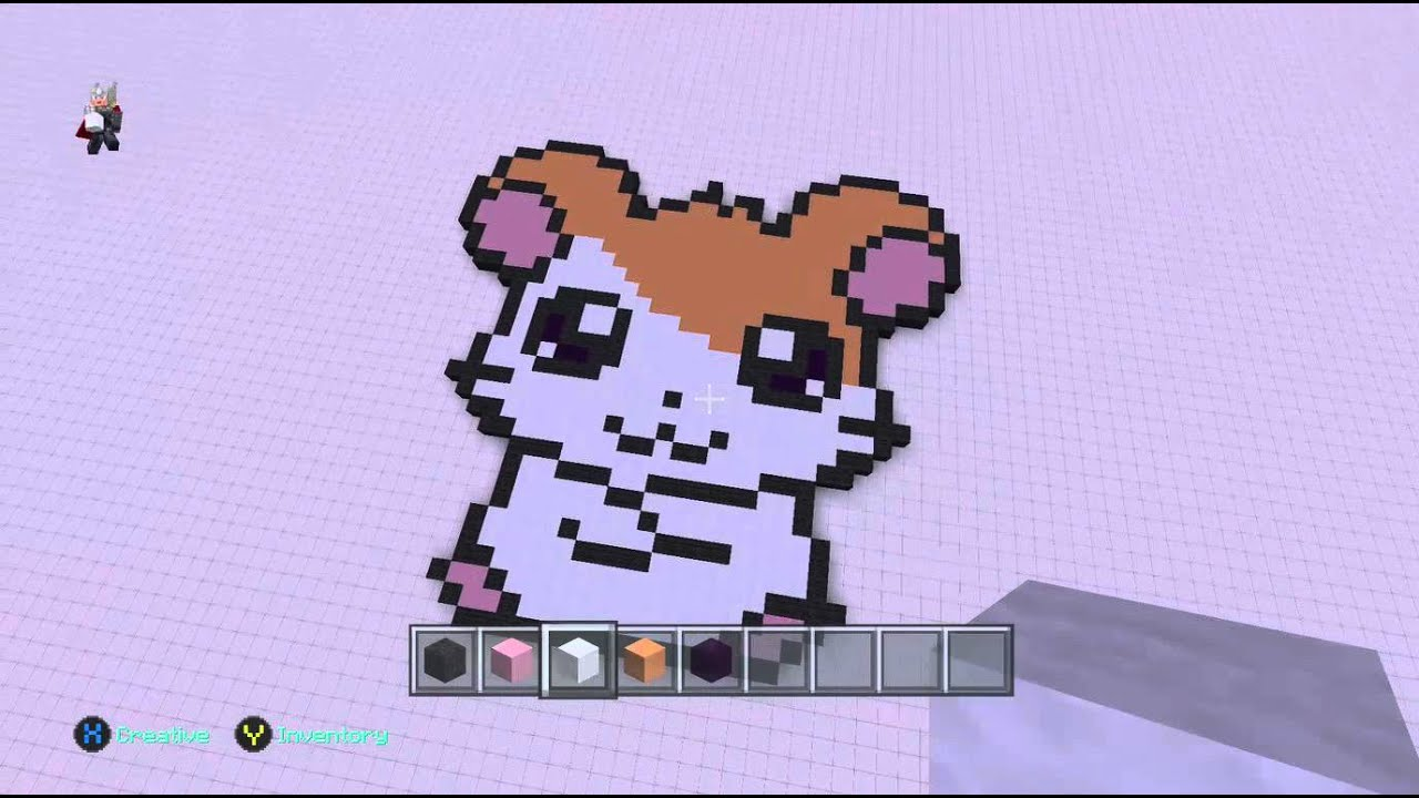 pixel art hamster