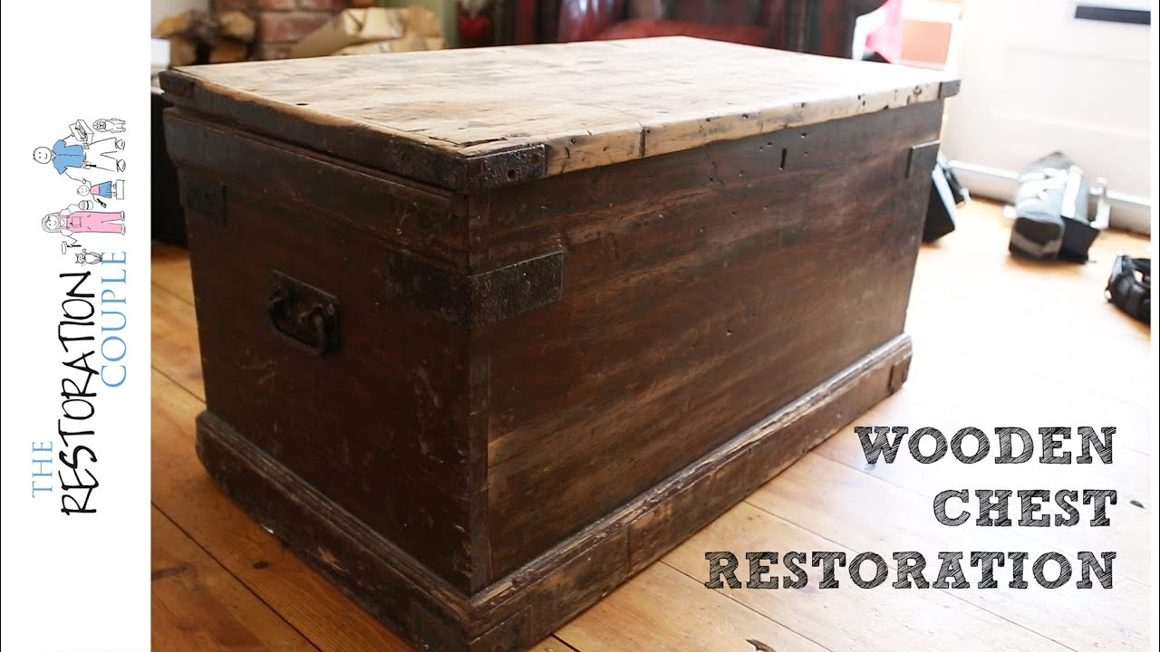 Antique Wooden Chest Restoration Project Intro Youtube