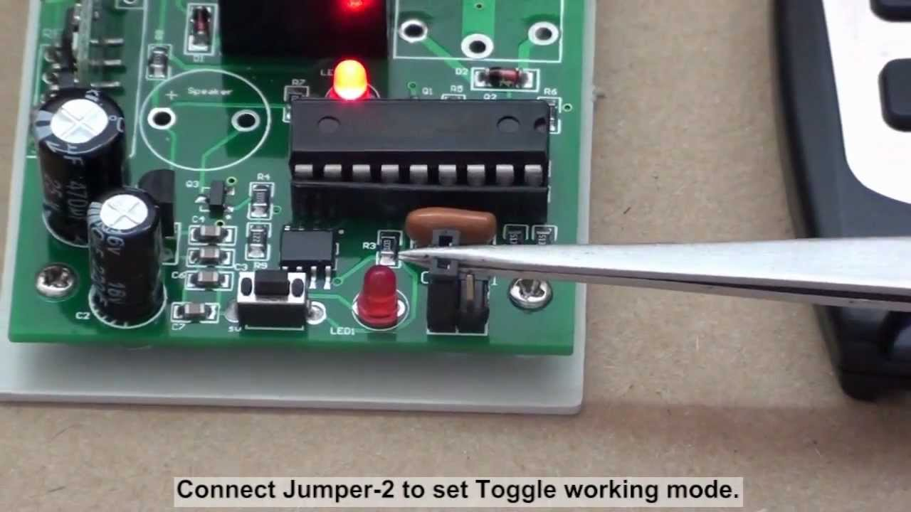 How to wire rf remote transmitter receiver to the 12v light?  YouTube
