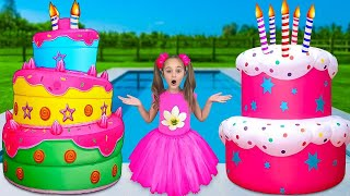 Sasha and Birthday Party! Preparing Surprises and Cake for Mommy