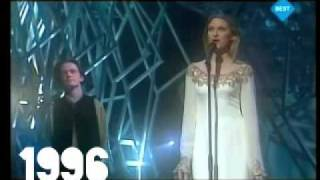 Winners of Eurovision Song Contest 1990-1999