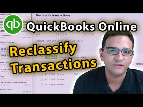 Reclassify Transactions in QuickBooks Online 2020