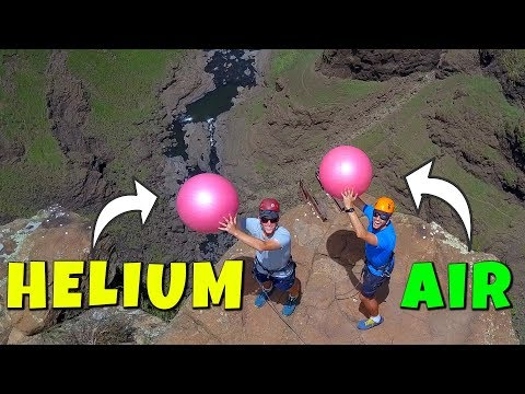 Exercise Ball Magnus Effect: HELIUM VS. AIR from 200m!