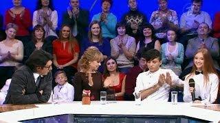 Модель Юлия Голубцова в программе «Сегодня вечером» на Первом канале