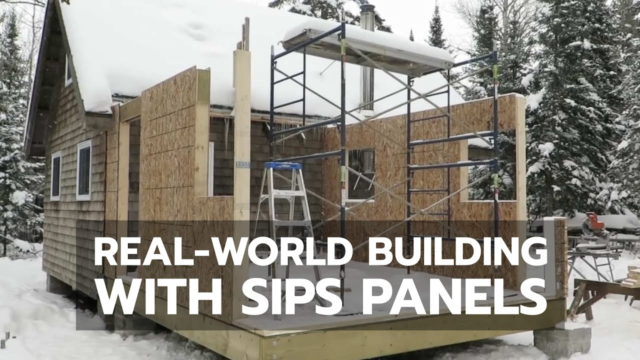 How to real world building with sips panels youtube for Sip house construction