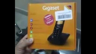 Unboxing of Gigaset A530 cordless Phone