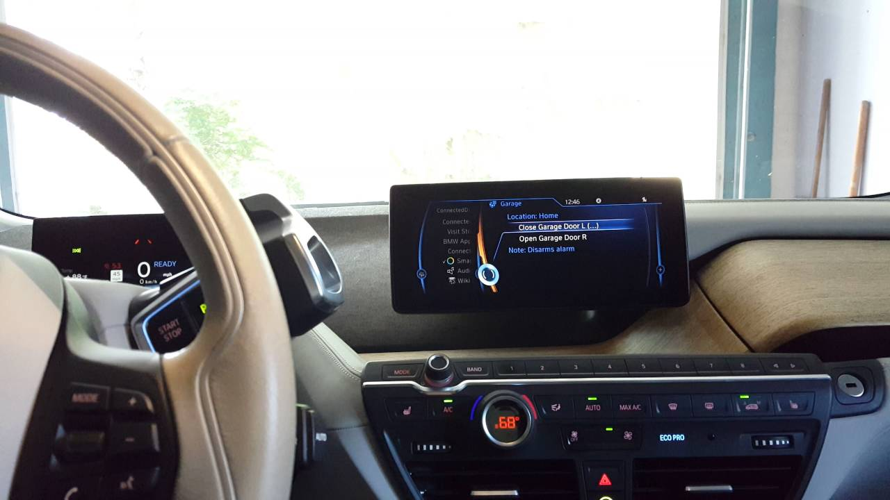 Bmw I3 Rex Connecteddrive Samsung Smartthings Linear Garage