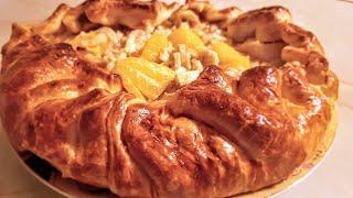 видео Пирог с бананами и яблоками из слоеного и дрожжевого теста