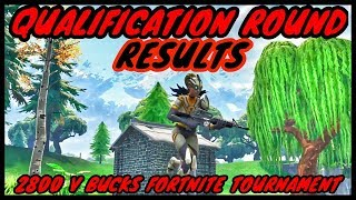 Qualification Round Results-2800 V Bucks Fortnite Tournament--Fortnite Battle Royal