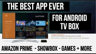 Video The Best APP for Android TV BOX - 1 Click Install -  Amazon Prime, Games + MORE download MP3, 3GP, MP4, WEBM, AVI, FLV Mei 2018