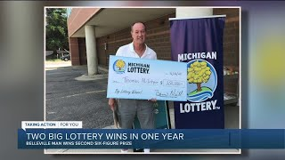 Michigan man wins Powerball prize for second time in 6 months