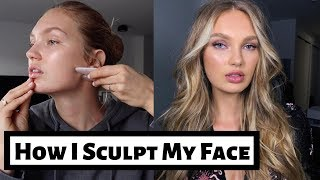 How I Sculpt My Face   Natural Face Lift Routine   Romee Strijd