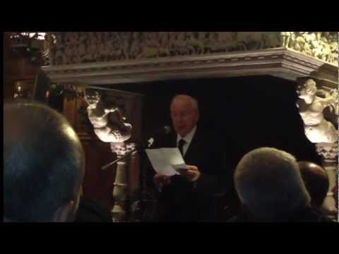 Jim Lovell, Apollo 13, reads letter from Charles Lindbergh