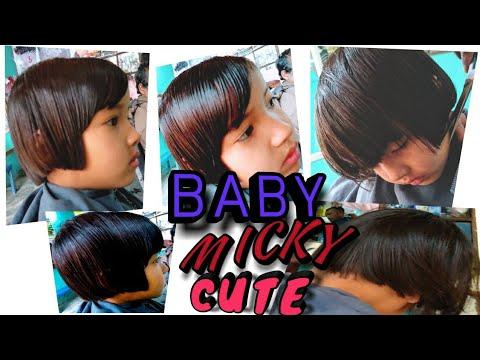 Baby Micky Cut Baby Hair Cute Style Ladaki Ka Baal Kating Ka