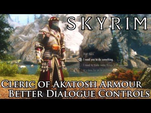 Skyrim Mods: Better Dialogue Controls & Cleric Of Akatosh