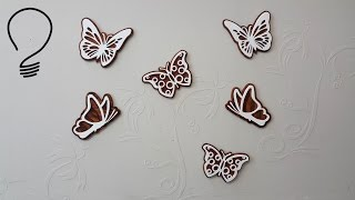 Making butterflies (decoration) out of 6 mm plywood. Patterns on my website. Enjoy! My website: https://dmidea.eu Facebook: https://
