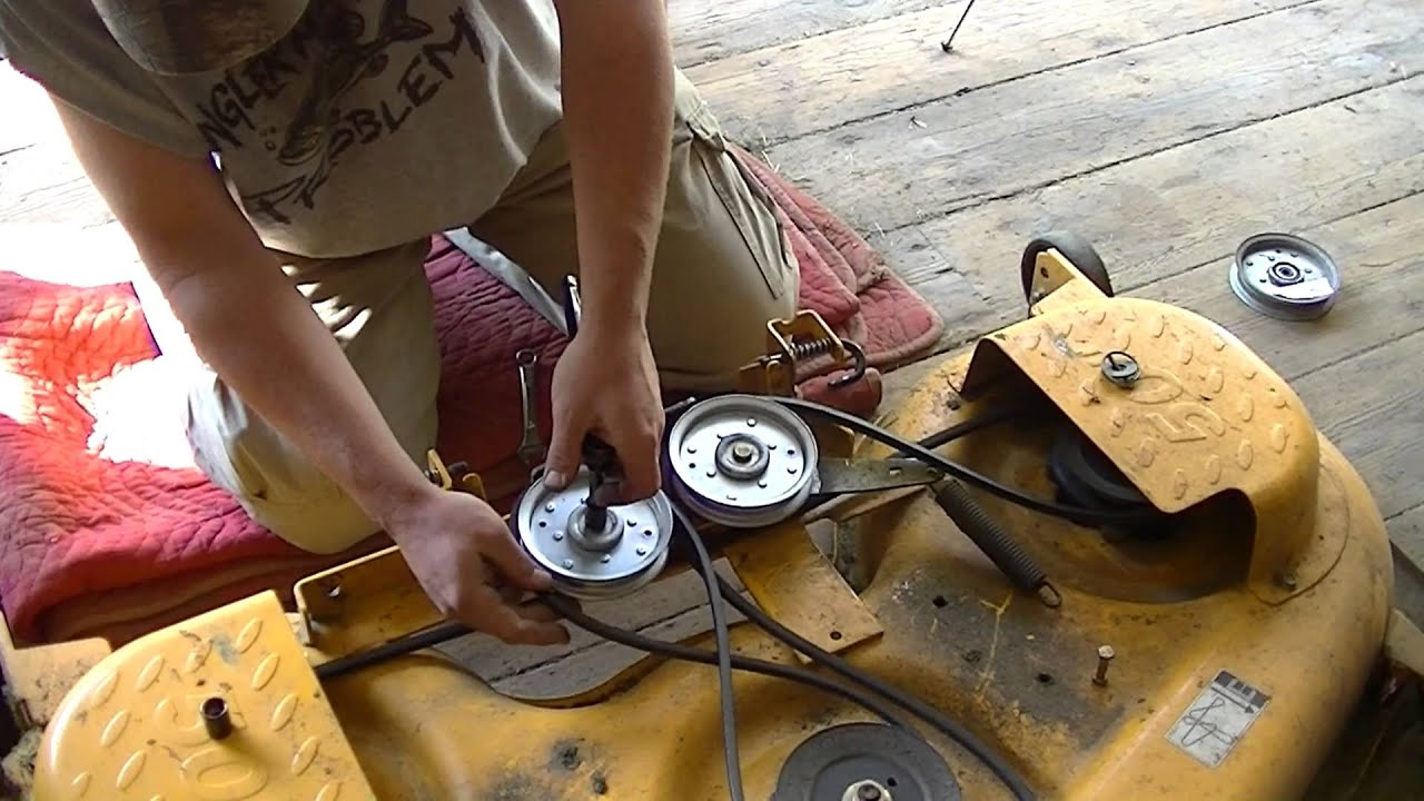 medium resolution of cub cadet ltx1050 bad idler pulley and spring tip trick youtube deck schematic cub cadet lgt 1054