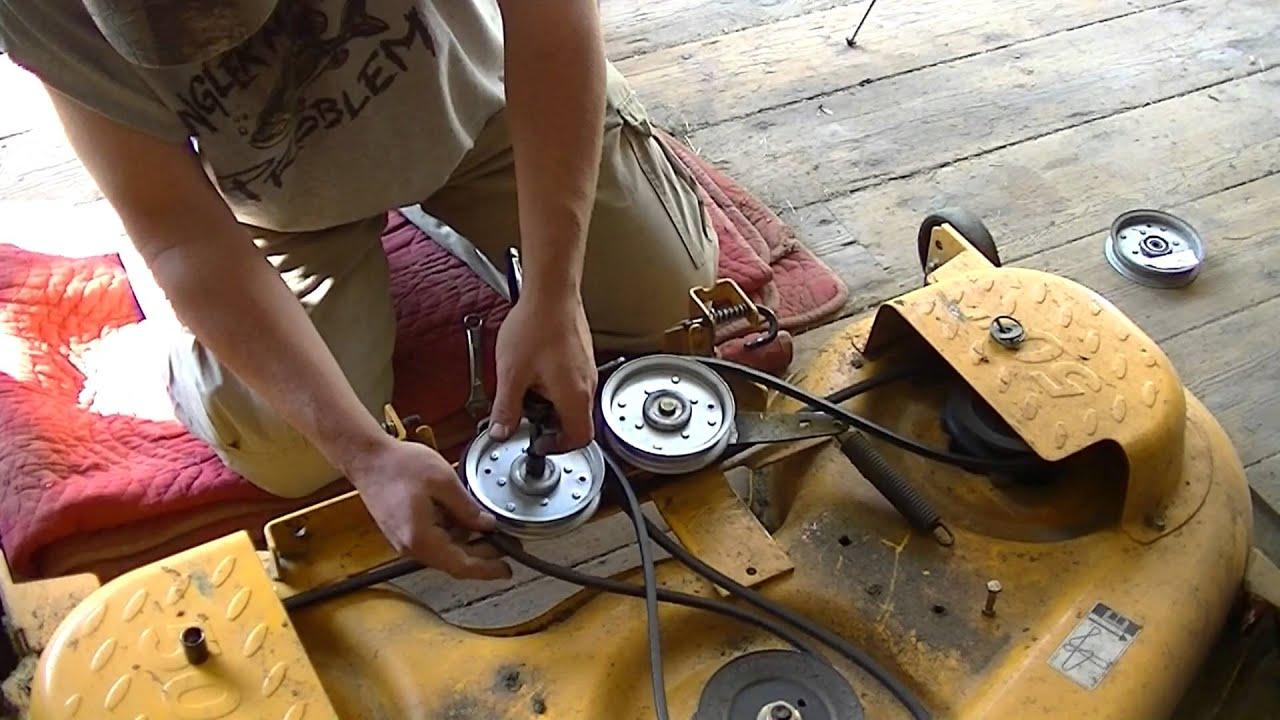medium resolution of cub cadet ltx1050 bad idler pulley and spring tip trick