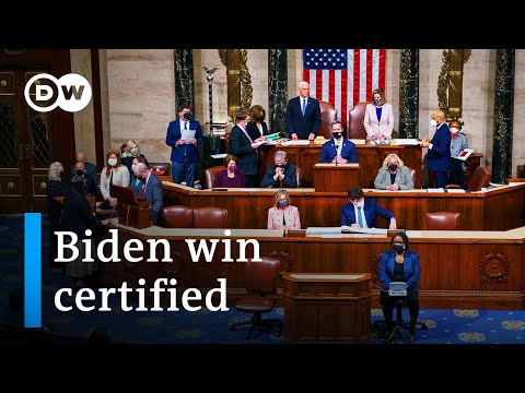Traitors in US Congress certifies Biden election win after Capitol riot | DW News