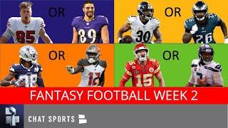 NFL Fantasy Football Week 2 Advice: Fantasy Focus On Start Em or Sit Em, Sleepers & Rankings