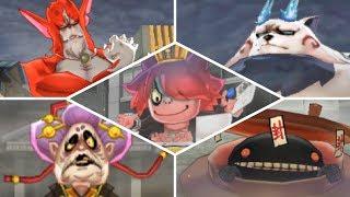 Yo-kai Watch 2 Psychic Specters: Psychic Blasters - All Bosses! [Solo]