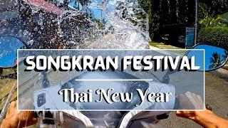 Songkran water festival / Thai New Year on Koh Phangan