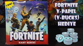 Fortnite V-Papel (V-Bucks) Hediyeli Oyun Kartları - Fortnite Oyun Kartları Açıyoruz