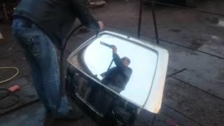 хромирование керхером (хим металлизация) стекло(Тест новой химии Которую можно залить в керхер и за металлизировать большую деталь Хоть авто целиком., 2015-01-08T20:11:22.000Z)