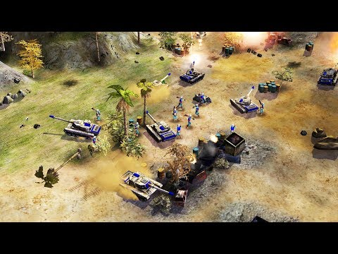 US TANKS in BATTLE Smash CHINA NUKE BASE  Command & Conquer Generals Gameplay
