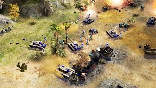 US TANKS in BATTLE Smash CHINA NUKE BASE | Command & Conquer Generals Gameplay