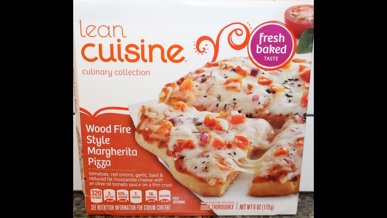 lean cuisine wood fire style margherita pizza review youtube