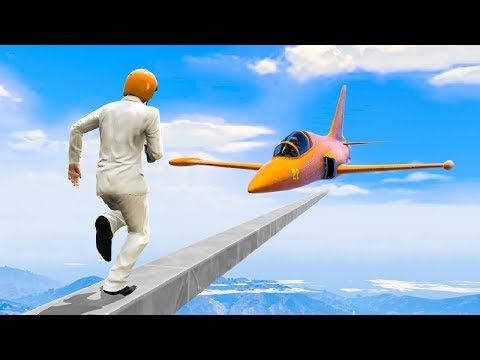 FLYING JETS vs. TIGHTROPE DEAHTRUN! (Gta 5 Funny Moments)