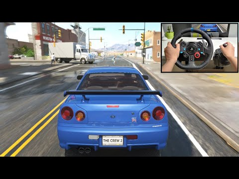 Nissan Skyline R34 GTR - Miami To New York - The Crew 2 | Logitech G29 + Shifter Gameplay