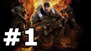 Gears Of War Walkthrough Part 1 - No Commentary Playthrough (Xbox 360)