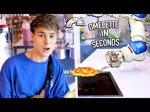i tested an OMELETTE MAKING ROBOT & pancake machine