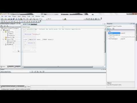 using visual studio to write a c program