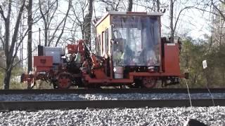 Norfolk Southern Rail Road Repair Work/Equipment Track Working Machines(HD)Austell,Ga.1-16-2014