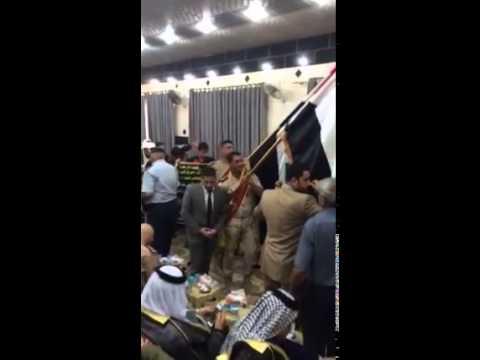 من داخل مجلس عزاء الشهيد اللواء الركن عبد الرحمن حنظل ابو رغيف بحضور السيد وزير الدفاع