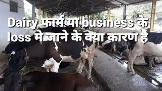 Dairy फार्म के loss में जाने के क्या कारण होते है। Why Dairy farms goes into losses part-1