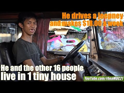 Living in Extreme Poverty in Manila Philippines. Life in Manila Slums. A Poor Jeepney Driver