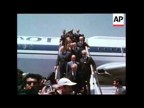 Saddam Hussein in France, Iraq Visit By Soviet Premier Kosygin, Saddam Hussein Opens The Symposium O