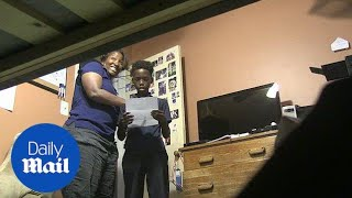 Mother pranks son with fake report card and stresses him out - Daily Mail
