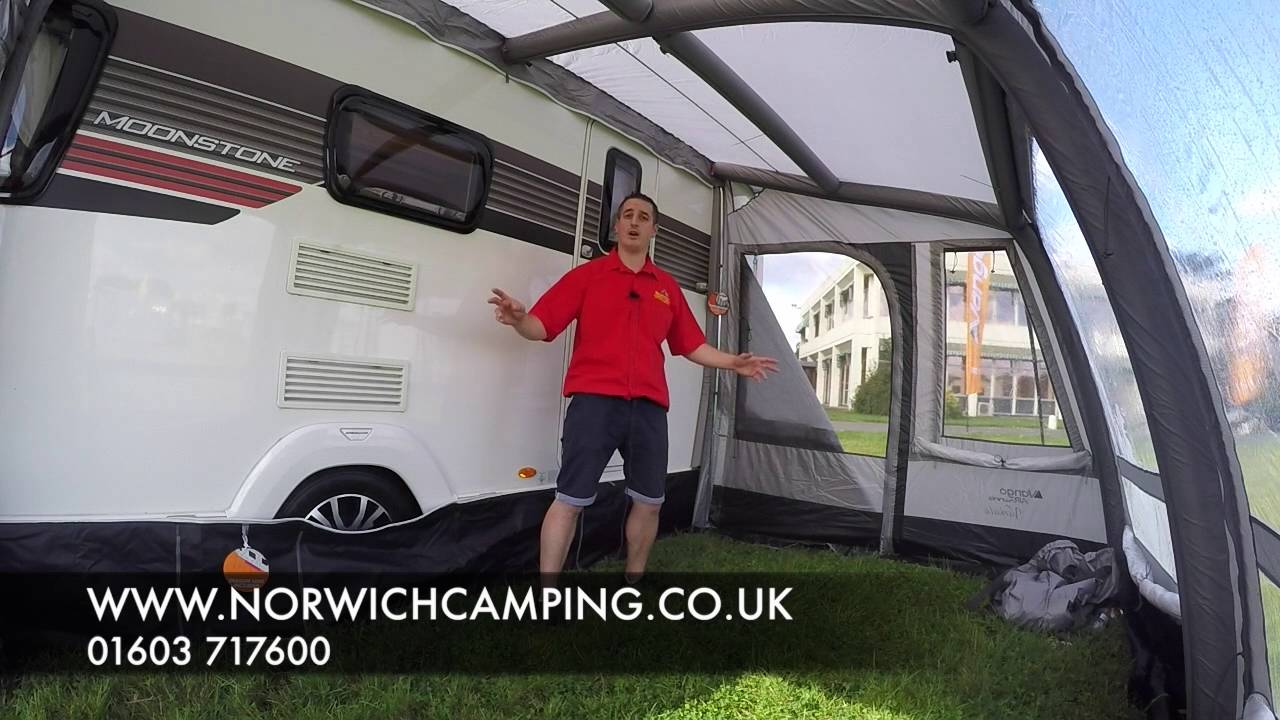 Vango Varkala 280 360 420 520 Inflatable Awning 2017 Youtube