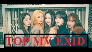 Top 15 MV with the highest views of EXID (이엑스아이디)