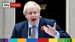 General election: Boris Johnson says 'MPs are refusing to deliver Brexit'