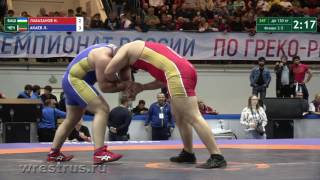 130 кг. Нохчо Лабазанов - Лом-Али Акаев. ЗА бронзу.